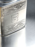 Metall box with elite chinа tea Royalty Free Stock Photo