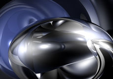 Metall Bubble In Blue Light Royalty Free Stock Images