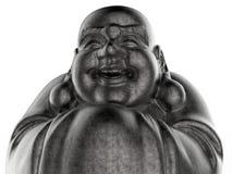 Metall-Buddha-Statuennahaufnahme stock abbildung