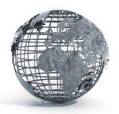 Metall bundit jordklot vektor illustrationer