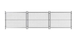 Metall bundit staket stock illustrationer