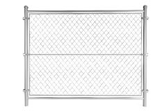 Metall bundit staket royaltyfri illustrationer