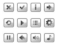 Metall buttons for game Royalty Free Stock Image