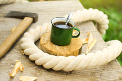 Metall cup of tea Royalty Free Stock Image