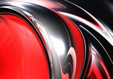 Metall de prata na luz vermelha 02 Imagens de Stock