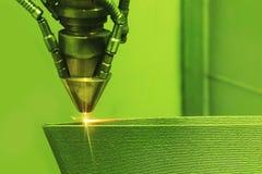 Metall des Druckers 3D Druck stockfoto