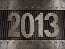 Metall des neuen Jahres 2013 lizenzfreie stockbilder