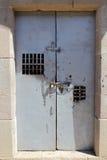 Metall drzwi z kędziorkiem Zdjęcie Stock