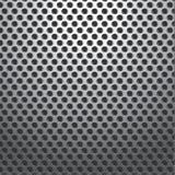 Metall durchlöchert den nahtlosen Platten-Hintergrund Lizenzfreies Stockbild