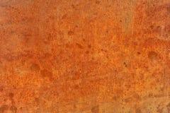 Metall eller stål för apelsin brun gammal rostad anfrätt Royaltyfria Bilder