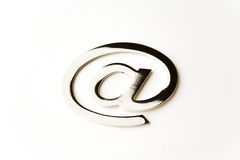 Metall-eMail alias Lizenzfreies Stockbild