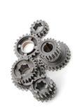 metall för 2 kugghjul Royaltyfri Bild