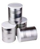 metall för cans fyra royaltyfri foto