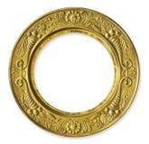 metall för cirkelramguld Arkivbild