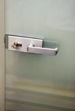 metall för dörrhandtag arkivbild