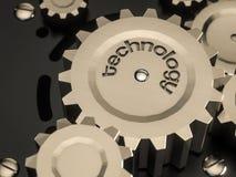 Metall för den abstrakta maskinen utrustar klassisk stil med ordteknologi Royaltyfri Foto