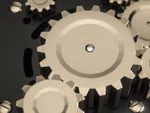 Metall för den abstrakta maskinen utrustar klassisk stil, steampunk Royaltyfria Foton