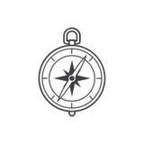 metall för symbol för green för huvuddelmittkompass Arkivbilder