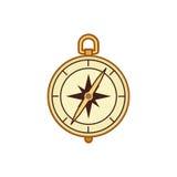 metall för symbol för green för huvuddelmittkompass Royaltyfri Foto