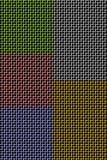 Metall: Farbiges Ineinander greifen Stockbild