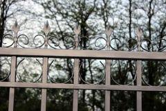 Metall fence2 royaltyfri fotografi
