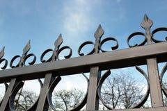 Metall fence5 arkivfoto