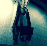 Metall från tvillingbröder, 9/11 minnesmärke, New York Royaltyfria Bilder
