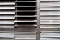 Metall gekerbte Fenster Lizenzfreie Stockbilder
