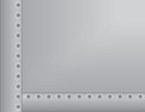 Metall genieteter Hintergrund Lizenzfreies Stockfoto