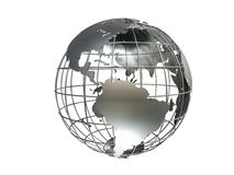 Metall globe Stock Image