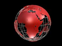 Metall globe Stock Images
