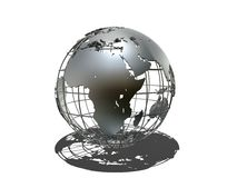 Metall globe Royalty Free Stock Photos