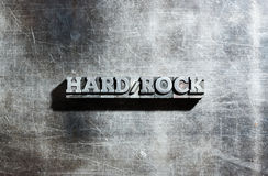 Metall-HARDROCK Stockfoto