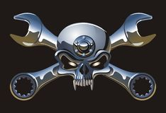 metall jolly Roger wektora Obrazy Royalty Free