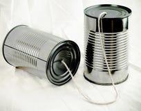Metall kann anrufen Stockfotografie