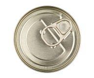Metall kann auf Weiß lizenzfreie stockfotos