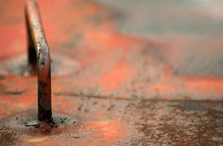 Metall korrodierte Beschaffenheit Lizenzfreies Stockfoto