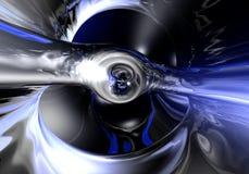 Metall líquido en la luz azul 02 stock de ilustración