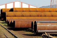Metall leitet Fabrik Stockfotografie