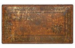 metall målad rostig textur arkivfoto