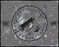 metall målade plattan skrapad Fotografering för Bildbyråer