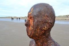 Metall mans head crosby nära liverpool Arkivfoton