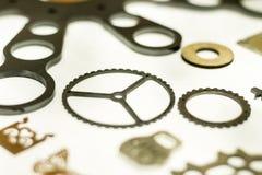 Metall maschinell bearbeitete Teile Stockfotografie