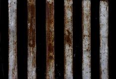 Metall med rusar för textur arkivfoton