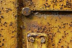 Metall med tung rost Arkivbild