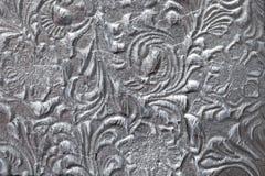 Metall mit Blumenmuster stockfotos