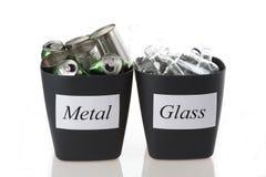 Metall och exponeringsglas arkivbild