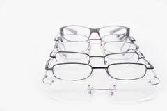 Metall och utan bågar ramar för dioptrical exponeringsglas eller solglasögon Royaltyfri Bild