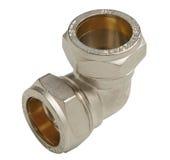 Metall- oder PVCplastikwasserleitungspipe-verbindung Ventil, plombierend stockfotografie