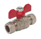 Metall- oder PVCplastikwasserleitungspipe-verbindung Ventil, plombierend Lizenzfreie Stockbilder